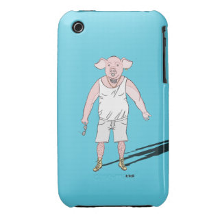 """Casco I-fonio 3G/3GS """"z' animo"""", el Cerdo iPhone 3 Protector"""