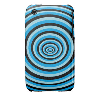 Casco iPhone 3 deteriorado redondos azul Case-Mate iPhone 3 Protector