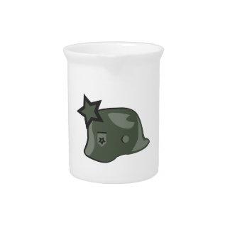 Casco militar jarra de beber