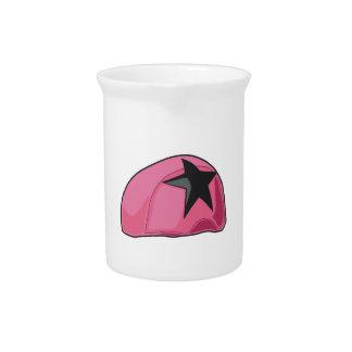 Casco rosado jarra de beber