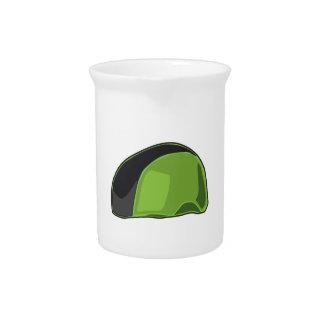 Casco verde jarrón