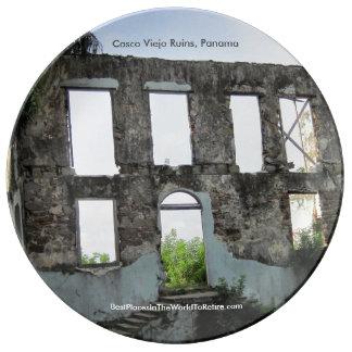 Casco Viejo Ruins, Panama Porcelain Plate