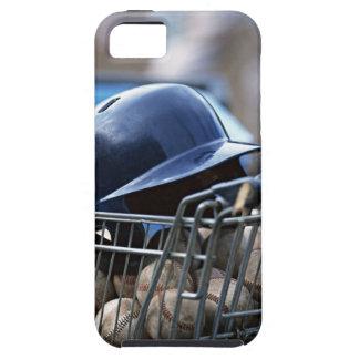 Casco y bola del béisbol iPhone 5 carcasa
