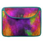 Cascos de cristal multicolores vibrantes abstracto fundas macbook pro