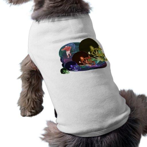 Cascos de fútbol americanos camiseta de mascota