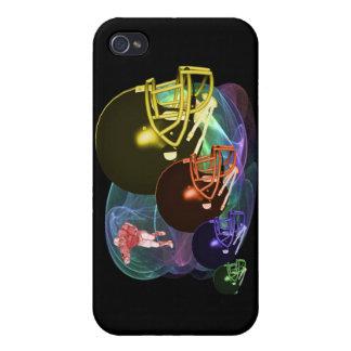 Cascos de fútbol americanos iPhone 4 funda