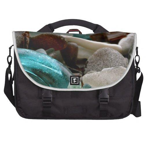 Cascos del vidrio del mar bolsas para portátil