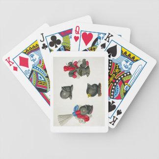 Cascos placa de una historia del desarrollo baraja cartas de poker