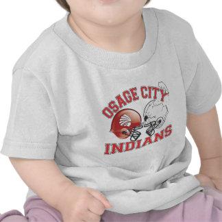 Cascos protectores de los indios de la ciudad de camiseta