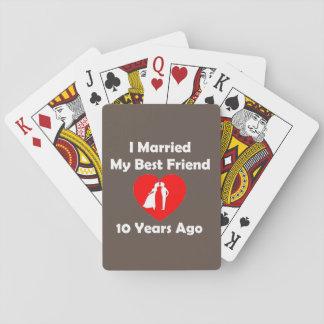 Casé a mi mejor amigo hace 10 años barajas de cartas