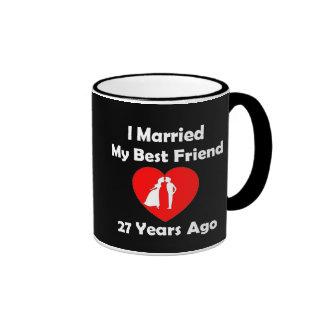 Casé a mi mejor amigo hace 27 años taza de dos colores