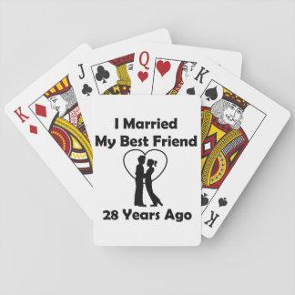 Casé a mi mejor amigo hace 28 años barajas de cartas