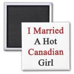 Casé a un chica canadiense caliente imán de frigorífico