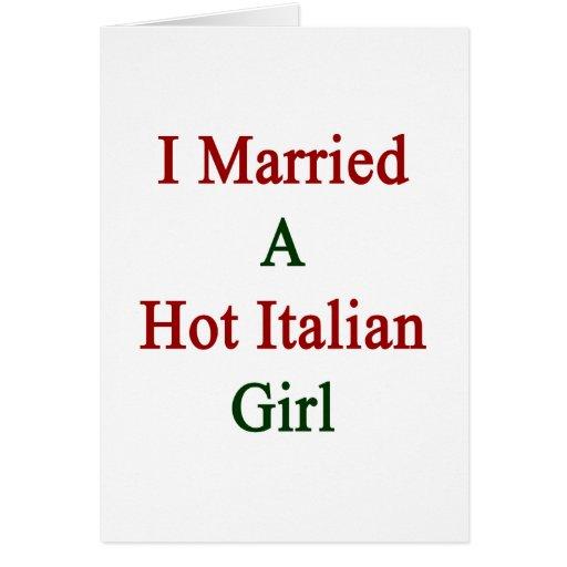 Casé a un chica italiano caliente tarjeta