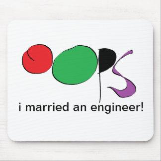 casé a un ingeniero alfombrillas de raton