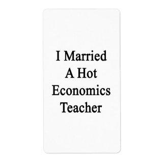 Casé a un profesor caliente de la economía etiqueta de envío