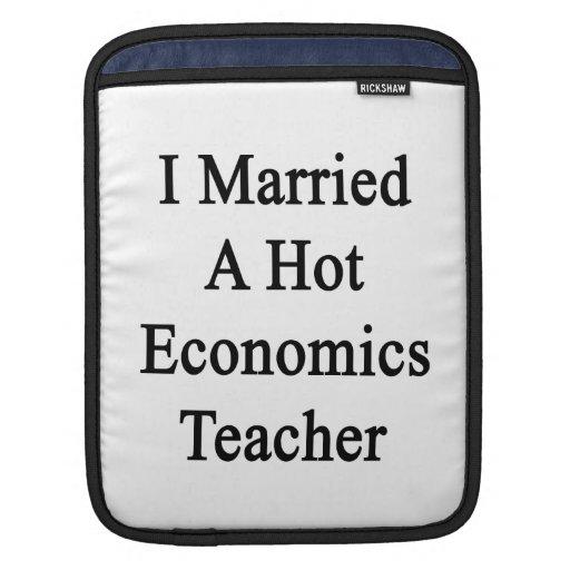 Casé a un profesor caliente de la economía mangas de iPad