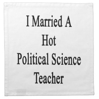 Casé a un profesor de ciencias político caliente servilleta imprimida