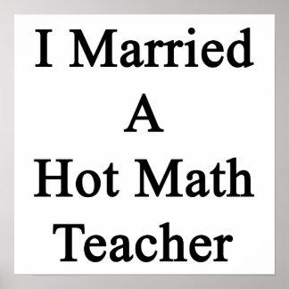 Casé a un profesor de matemáticas caliente póster
