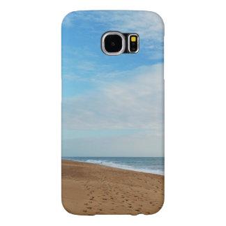 Case: Beach, Sky and footprints Samsung Galaxy S6 Cases