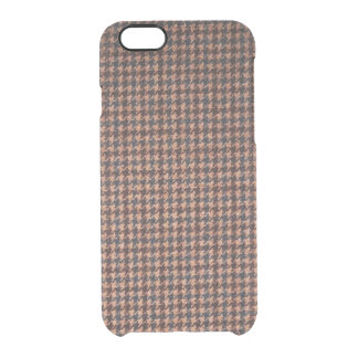 Case: Brown Tweed Fabric Clear iPhone 6/6S Case