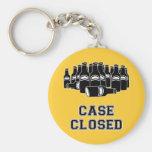 Case Closed Basic Round Button Keychain