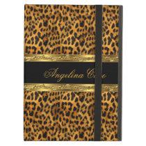 Case Elegant Gold black Leopard Animal Print iPad Air Cases