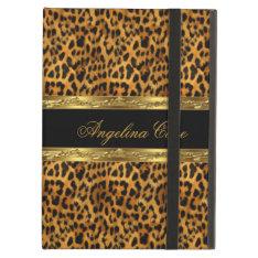 Case Elegant Gold black Leopard Animal Print iPad Air Cases at Zazzle
