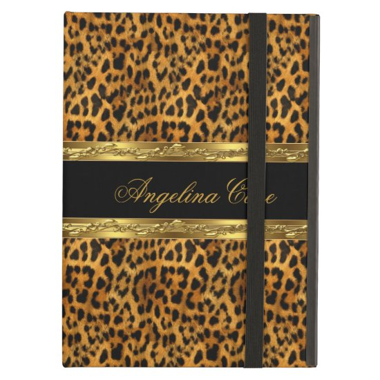 Case Elegant Gold black Leopard Animal Print iPad Air Cases