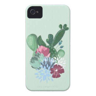 Case flowers cactus