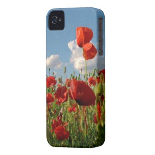 "Case iPHONE 4/4S ""AMAPOLA"" Carcasa Para iPhone 4"