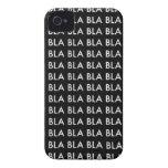 "Case iPHONE 4/4S ""BLA BLA BLA"" Case-Mate iPhone 4 Carcasa"