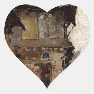 Case la vitre by Nicolae Grigorescu Heart Sticker