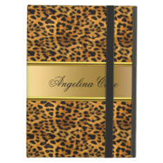Case Leopard Gold Add Name at Zazzle