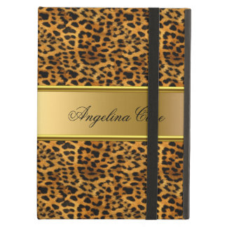 Case Leopard Gold add Name Case For iPad Air