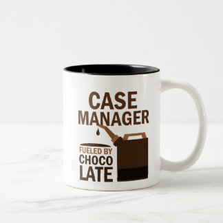 Case Manager (Funny) Chocolate Two-Tone Coffee Mug