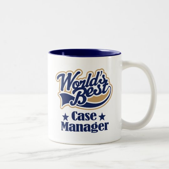 Case Manager Gift (Worlds Best) Two-Tone Coffee Mug
