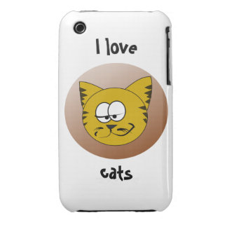 Case-Mate Barely There 3G/3GS I Love Cats iPhone 3 Case