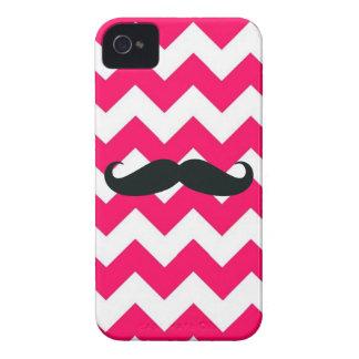 Case-Mate iPhone 4 Case -- Pink Chevron Mustache