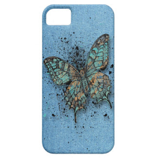 Case-Mate - Light Blue with Butterfly IPhone/S3 iPhone SE/5/5s Case