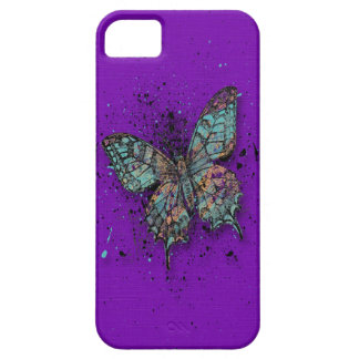 Case-Mate - Purple with Butterfly iPhone SE/5/5s Case