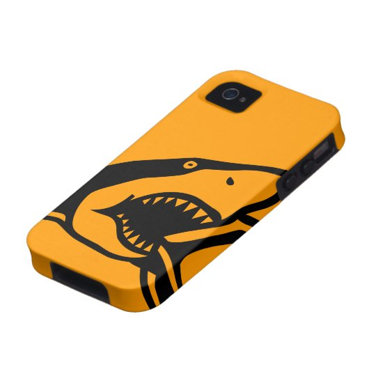 Case-Mate™ Shark Orange iPhone 4/4S Cover