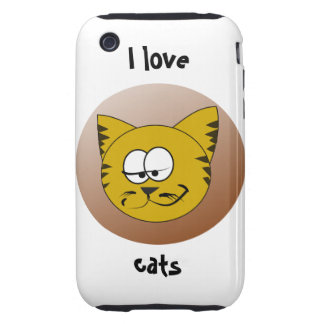 Case-Mate Tough 3G/3GS I Love Cats Tough iPhone 3 Cases