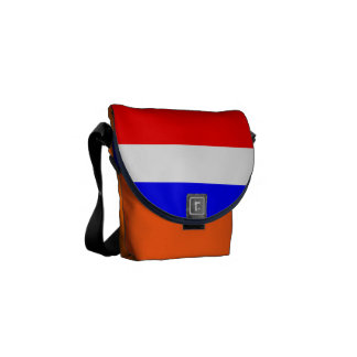 Case mini with rood-wit-blauw messenger bag