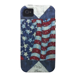 Case - Patriotic Personalized Quilt Design iPhone 4 Covers