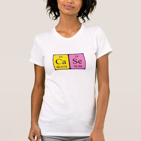 Case periodic table name shirt