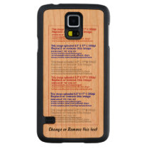 Case Phone Slim Wood for Samsung Galaxy S4