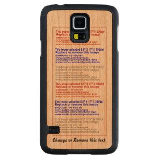 Case Phone Slim Wood for Samsung Galaxy S5