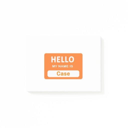Case Post-it Notes
