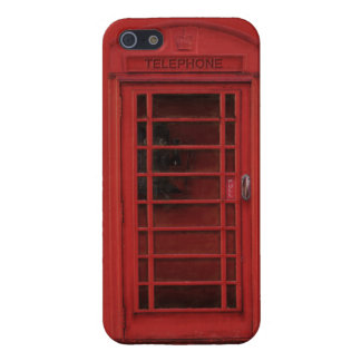 Case Savvy iPhone 5 Glossy: The red telephone box